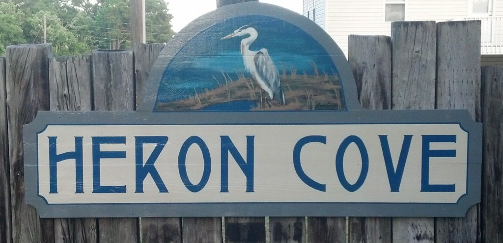 Heron Cove sign