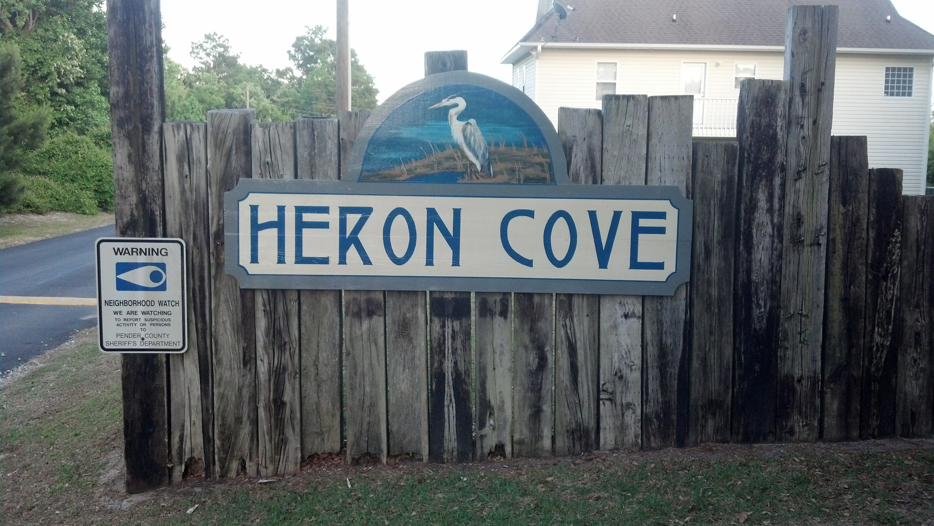 Heron Cove sign by Brandi Criscitiello